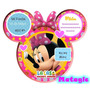 Kit Imprimible Minnie Rosa La Casa De Mickey Mouse Tarjetas