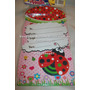 Tarjeta Invitacion Para Fiesta Mariquita Ladybug Cotillon
