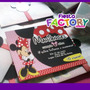 Minnie Mouse (roja) - Tarjeta De Invitación Personalizada