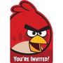 Invitaciones Angry Bird Importadas El Paquete Trae 8