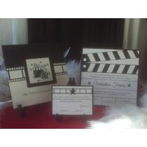 Invitaciones Hollywood U Oscar Claqueta