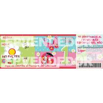 Imagen De Invitacion Primer Año Niña Garden Girl -epvendedor