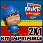 Kit Imprimible Mike El Caballero 2x1