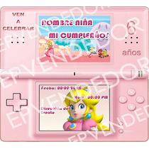 Imagen De Invitacion Nintendo Mario Bross - Invitaciones Epv