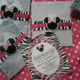 Minnie Mouse Animal Print - 12tarjetas De Invitación Person