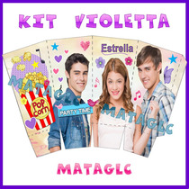 Kit Imprible Violetta Invitaciones Cotillon Golosinas Marcos