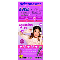 Invitación Infantil Violetta Personalizadas