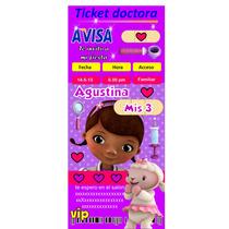 Invitación Infantil Doctora Juguetes Personalizadas