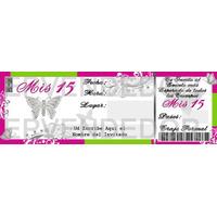 Imagen De Invitacion 15 Años Mariposas - Invitaciones