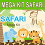 Kit Imprimible Baby Shower Animales De La Selva Safari