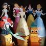 Tarjetas/ Invitaciones Infantiles En 3d Princesas Disney