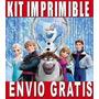 Kit Imprimible Frozen Completo Invitaciones+obsequios