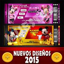 Invitaciones Infantiles Cumple Personalizada Minnie Y Mickey