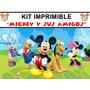 Mickey Mouse Kit Imprimible Invitaciones + Regalo
