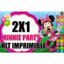 Kit Imprimible Minnie Flores 2x1
