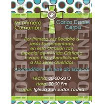 Tarjetas De Invitacion Primera Comunion - Invitaciones Epv