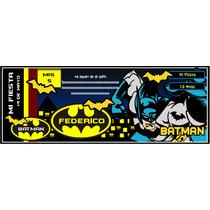 Invitación Infantil Batman Personalizadas