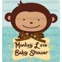 Kit Imprimible Monkey Love Baby Shower Boy O Girl 2x1