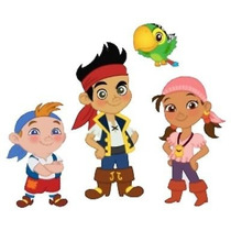 5x1 Kit Imprimible Jake Piratas Invitaciones Candy Bar Marco
