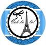 Kit Imprimible Paris Azul Candy Bar Invitaciones Tarjetas