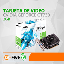 Tarjeta De Video 730 2gb Nvidia Geforce Pci Express 128 Bit