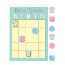 Juego De Bingo Ropita De Bebe P/babyshower Pax 10