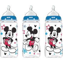 Set De 3 Teteros Nuk De 10oz / 300ml Disney Minnie Y Mickey