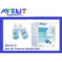 Teteros Azules Avent Set 2 9oz Anticolicos - Bebes - Carters