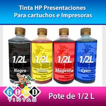 Tintas Hp Vivera Colores Y Negra (pote De 1/2 Litro)