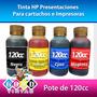 Tintas Hp Vivera Colores Y Negra (pote De 120 Cc)