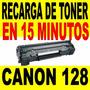 Recarga De Toner Canon 128 Mf210 Md220 En 15 Minutos Y Sale