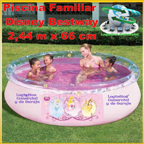 Piscina Familiar Inflable 244 X 66 Disney Princesas Cars Mic