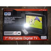 Televisor Portatil Lcd De 7 Pulgadas Marca Eviant Nuevo
