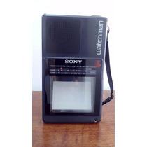 Tv Portatil Mini Televisor Wachman Sony Blanco Y Negro