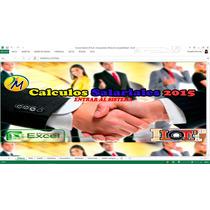 Hoja Calculo Salarial 2015 Liquidaciones Prestaciones Lottt