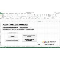 Nomina Con Recibos De Pago , En Excel