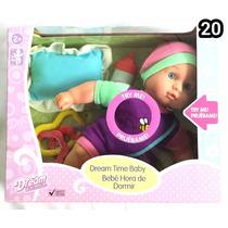 Muñeca Baby Maggie Hora De Dormir Con Accesorios