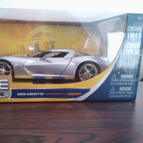 Icp Carro Coleccion 2009 Corvette Stingray Concept 1:24 Jada
