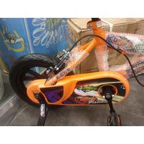 Bicicleta Rin 12 Para Niñas Y Niños Barbi Y Carros Rapidos