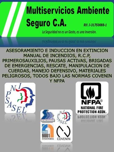 Venta Y Recarga De Extintores, Cursos, Brigadas Emergencia.