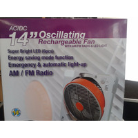 Ventilador Recargable + Radio Am Y Fm.. Super Oferta