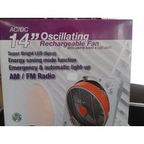 Ventilador Recargable + Radio Am Y Fm.. Super Oferta