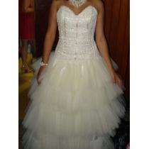 Vestido De Novia Ajustable C/cristales