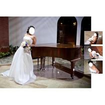 Vestido De Novia Boda Matrimonio Blanco Con Armador