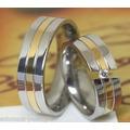 Alianzas- Anillos- Matrimonios --bodas-acero -oro 18 Kt