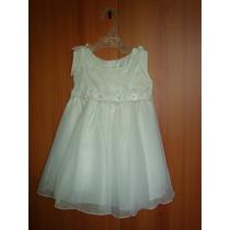 Vestido De Bautizo.totalmente Blanco. Talla 24 Meses.