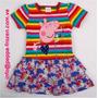 Peppa Pig Vestido Rayas De Colores Talla 4t