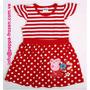 Peppa Pig Vestido Rojo Raya/punto Talla 4t