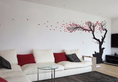 decoracion arbol pared vinilo decorativo arbol hojas grande decoracion de paredes bs