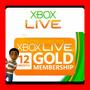 Xbox Live Gold 12 Meses Entrega Inmediata